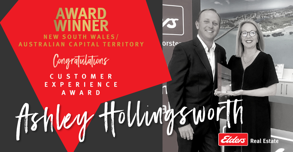 Ashley Hollingsworth Awarded Customer Experience Award NSW/ACT
